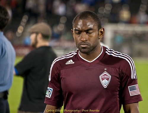 Marvell Wynne, Colorado Rapids vs LA Galaxy Apr 21st, 2012, Denver photographer, Denver Portrait photographer