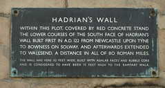 Photo of Hadrian's Wall bronze plaque
