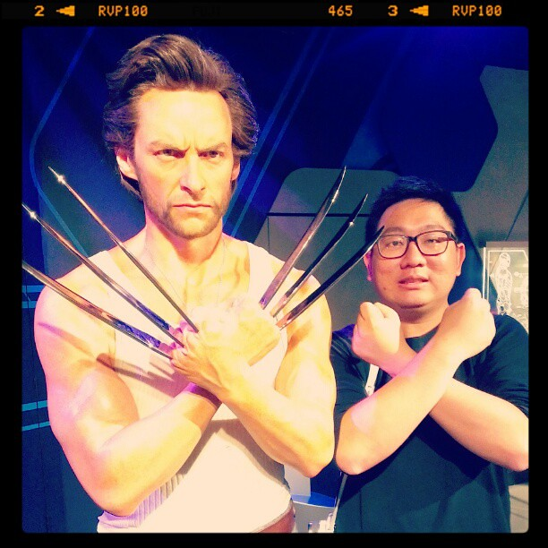 Me with another Australian superstar, Hugh Jackman aka Wolverine