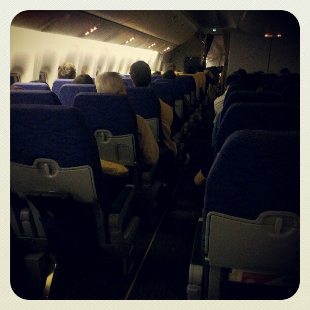 interior of the Scoot Boeing 777 plane