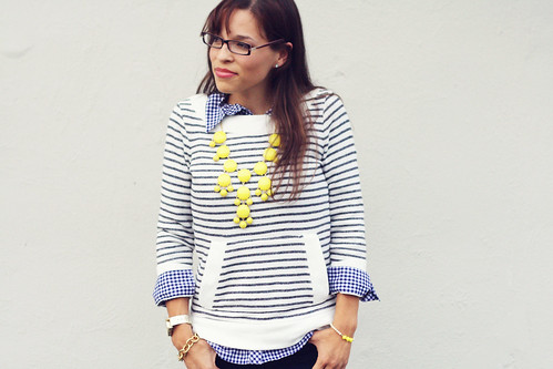 Stripes + Gingham + Yellow