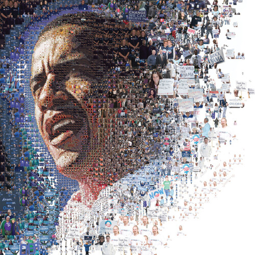 Obama Mosaic by dm2studios