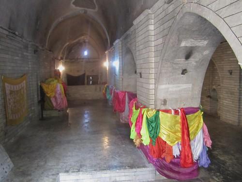 Interior del templo de Lalish.