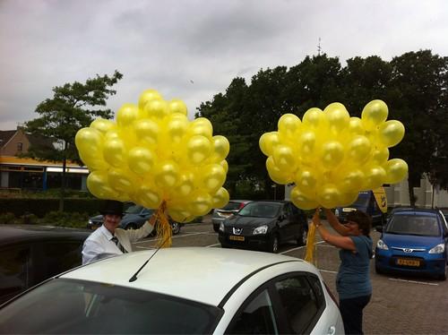 Heliumballonnen OBS De Zonnebloem Rockanje