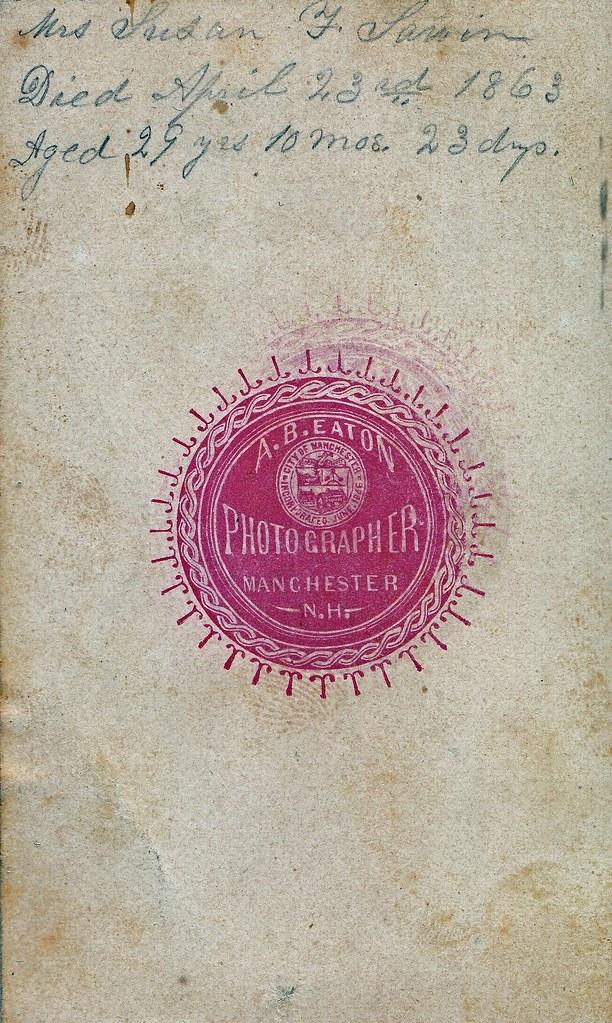 Albumen Carte De Visite Circa 1863 Reverse