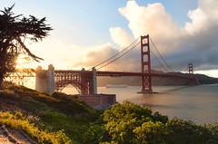 Golden hour at the Golden Gate