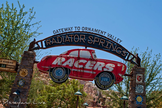 Radiator Springs Racers sign - Cars Land