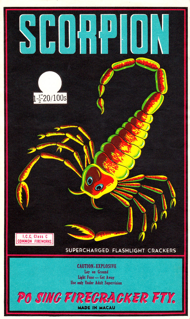 Scorpion - Firecracker Brick Label