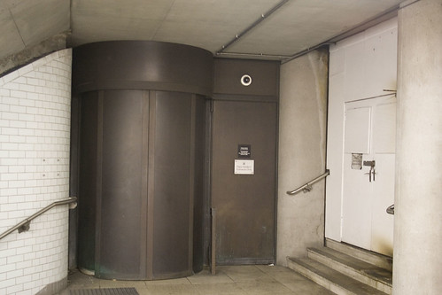 Entrance to Portcullis House from the subway next to Westminster Tube Station