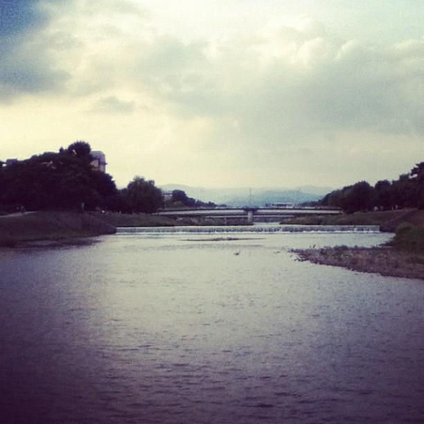 Sunset on the Kamogawa River.