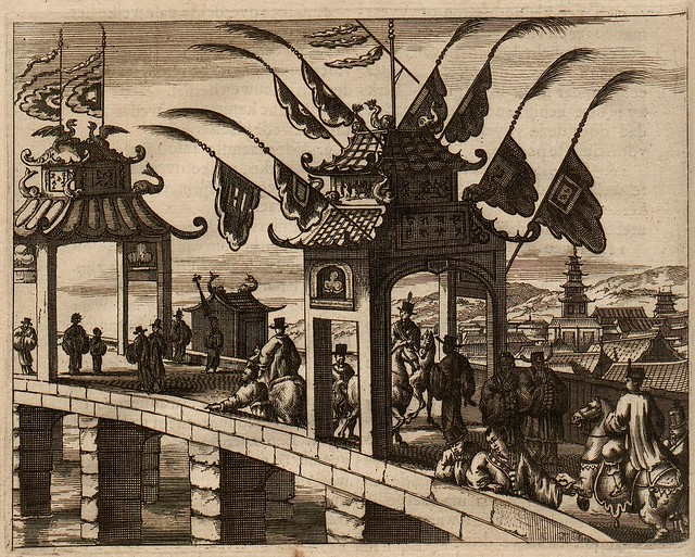 17th century European book illustration of China