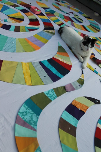Rainbow Derecho Quilt in Progress
