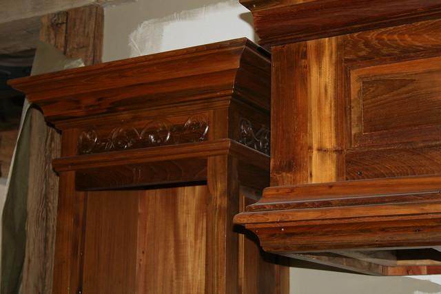 Reclaimed TEAK Kitchen Cabinets 350 Year Old Beams From Ol