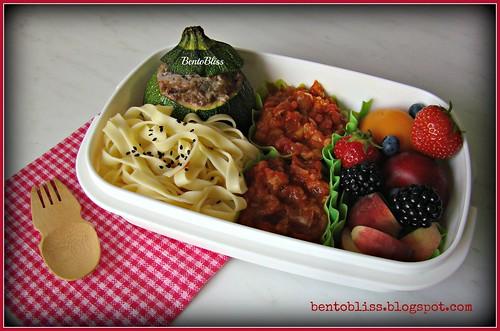 Stuffed Zucchini Bento