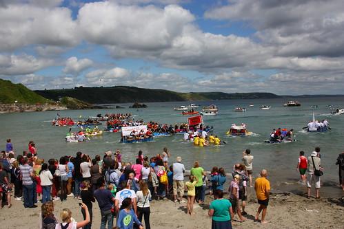 Raft Race at Looe
