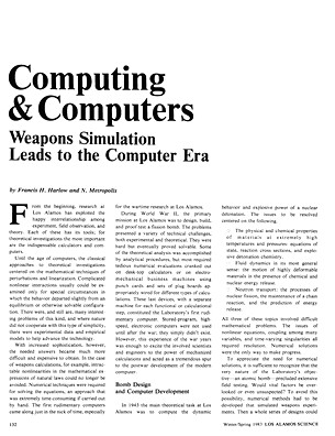 Computing and Computers Weapons Simulation Leads to the Com