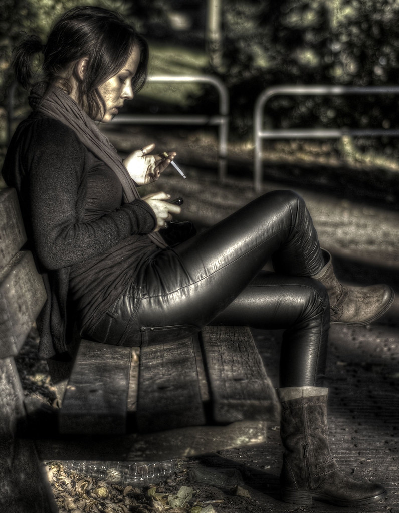 Hot Brunette In Leather Pants Smoking - A Photo On Flickriver-1819