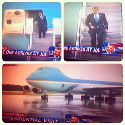 The president just landed in Jacksonville, FL. Kinda neat.