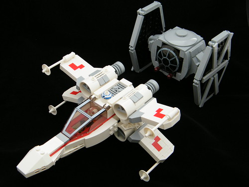 Chibi X-wing & TIE Fighter