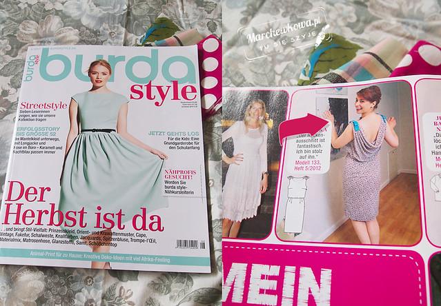 marchewkowa, blog, szafiarka, szycie, krawiectwo, wykroje, niemiecka Burda, zdjęcie