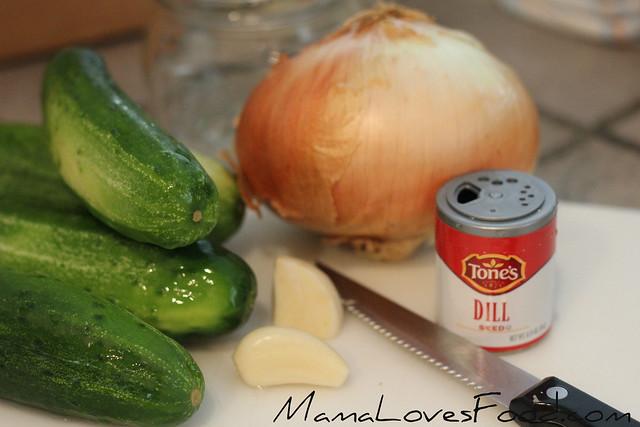 Garlic Dill Refrigerator Pickles - cutting cucumbers