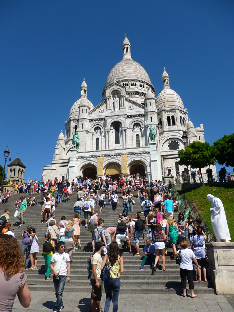 Sacre Coeur at the Bottom of the Front Steps