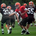 Brandon Weeden Handoff To Trent Richardson