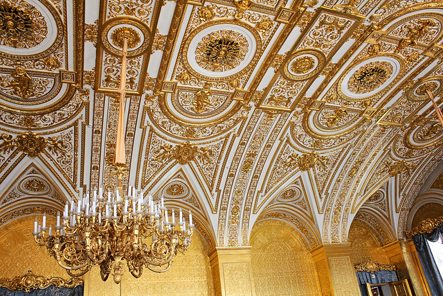 hermitage gold room ceiling
