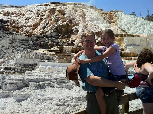 Wes and Rachel at Mammoth Hot Springs in Yellowstone National Park
