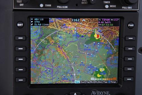 MLX770 Weather display N662TC