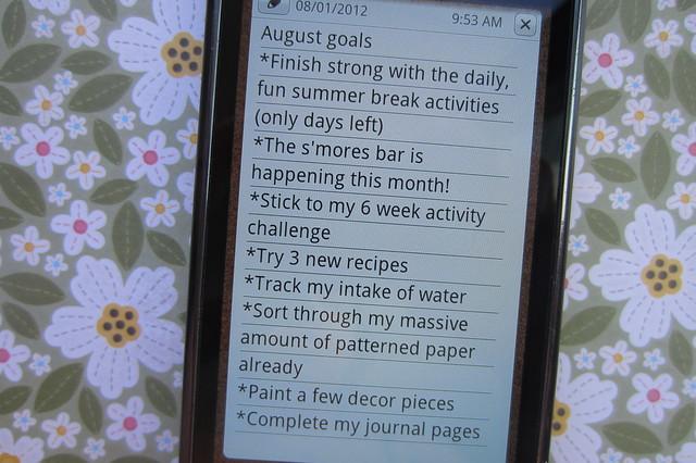August Goals
