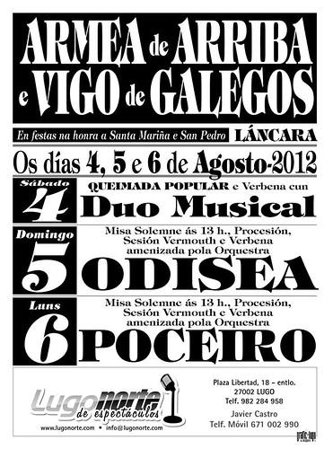 Láncara 2012 - Festas en Armea de Arriba e Vigo de galegos - cartel
