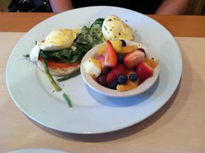 Eggs Benedict Florentine, Sun Garden Cafe, Siesta Key, Sarasota, FL