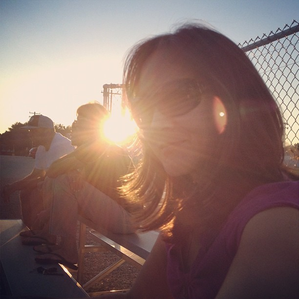 217/365+1 Evening on the Bleachers #selfie