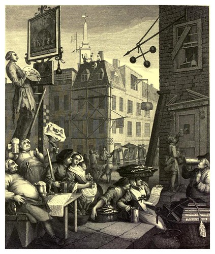 020- La calle de la cerveza y la de la ginebra- The works of William Hogarth  in a series of engravings 1860