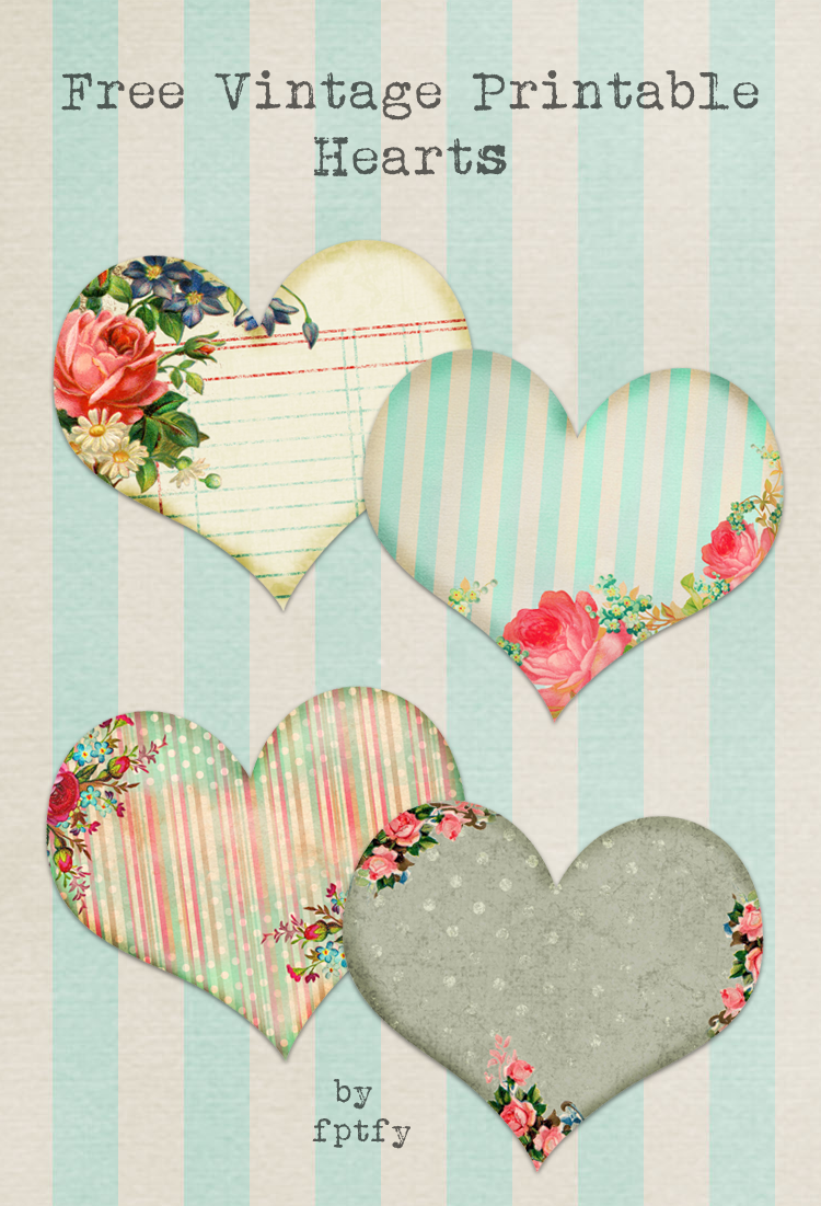 photo about Free Printable Vintage Images called Free of charge Basic Printable Hearts - No cost Wonderful Elements For By yourself