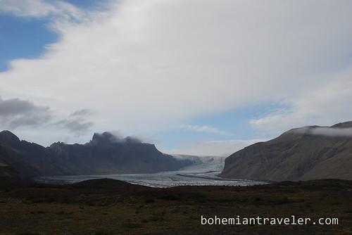 Skaftafellsjokull glacier tongue