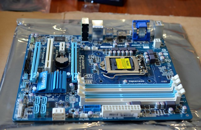 Naked motherboard