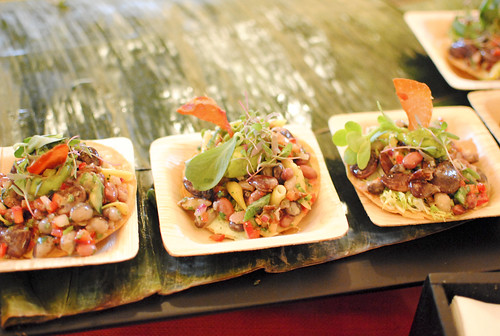 Mary Sue Milliken and Susan Feniger (Border Grill) summer bean salad tostadita