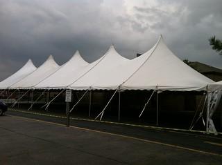 40 Foot Wide Pole Tent Rental