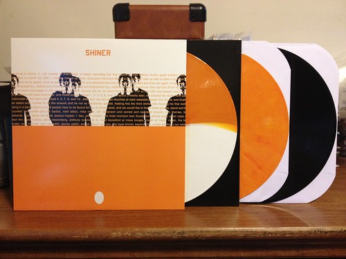 Shiner - The Egg LP - White & Orange Split Vinyl (/100), Orange Vinyl (/200) & Black Vinyl (/700) by Tim PopKid