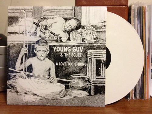 "Young Guv & The Scuzz - A Love Too Strong 12"" - White Vinyl (/200) by Tim PopKid"