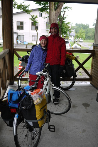 Ready for a wet climb up Shiretoko Pass (739m) in Hokkaido, Japan