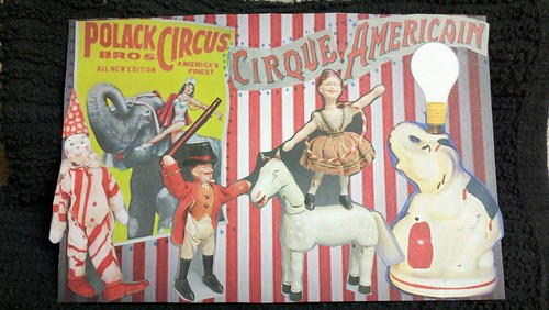 Circus postcard