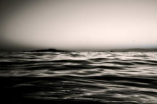 [フリー画像素材] 自然風景, 海, モノクロ ID:201208261200
