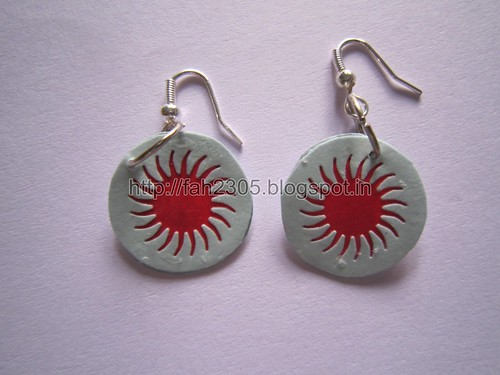 Handmade Jewelry - Paper Punch Disk Earrings (2) by fah2305
