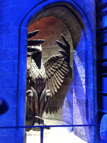 The giant Griffin that leads to Dumbledore's office