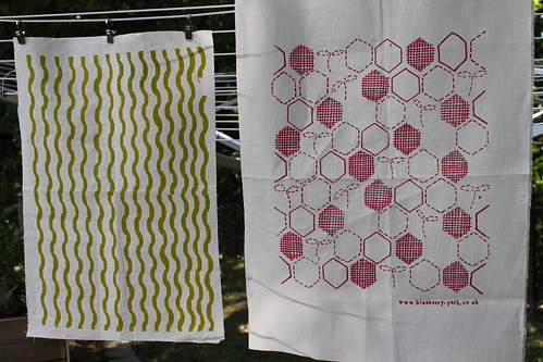 handprinted fabric from swap