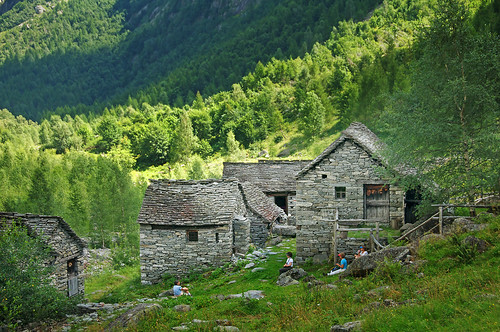 End of the trial in Val Calnegia, just off Val Bavona, a tributary of Valle Maggia