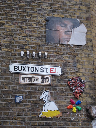 Streetart in London; Brick Lane & Shoreditch